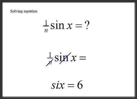 Student Exam - Equation Sin Six